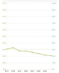 体重の推移(1週間)